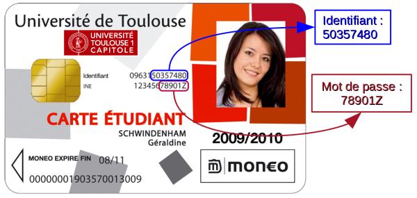 numero ine carte etudiante Sésame de l'Université Toulouse 1